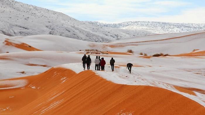 Dunas de neve no Saara!