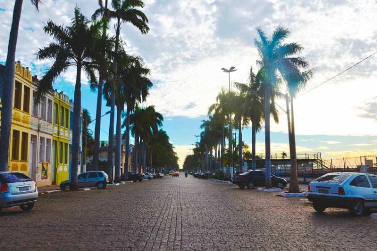 Avenida em Corumbá