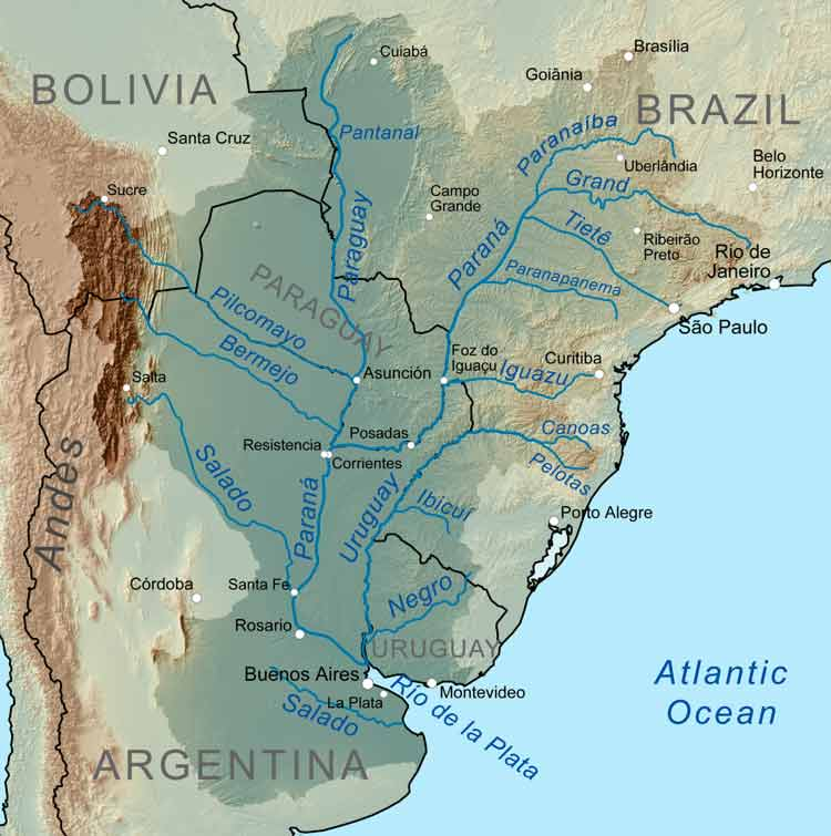 rio paraguai mapa